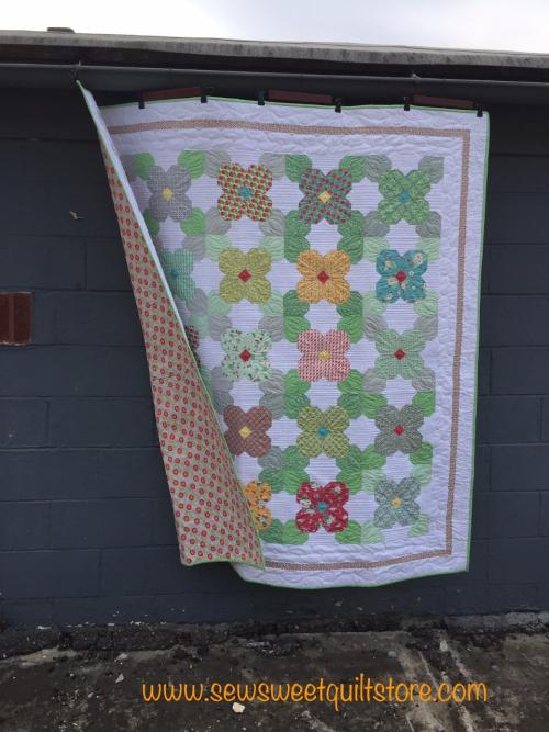 Flower quilt kit. missouri quilt shop.  quilt kit.