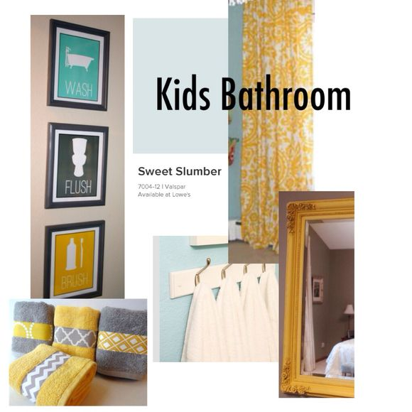 Inspiration Board. Kids Bathroom.