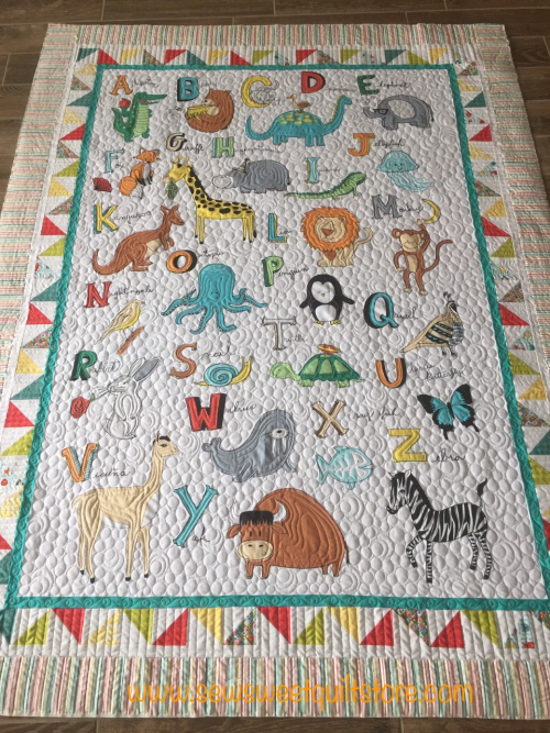Baby quilt animals